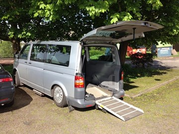 Our ramp and ability to raise and lower the van makes such a difference to transport our clients
