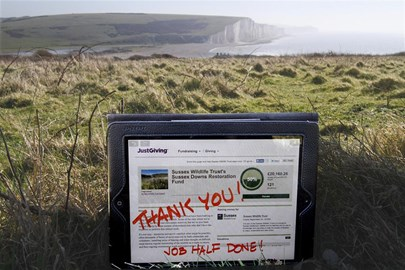 Brilliant news we are half way there with our Sussex Downs Appeal! Thank you so much to everyone who has supported us so far.