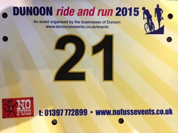 Race number for Dunoon Run and Ride 27th March 2015