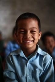 6 years old Bikas Lungwa is the favorite kid of the school.