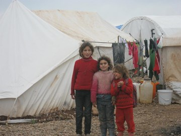 Children at Atmeh Refugee camp, N. Syria
