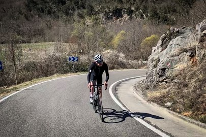 Out in Girona training