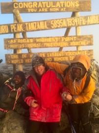 Uhuru Peak the summit of Kilimanjqro