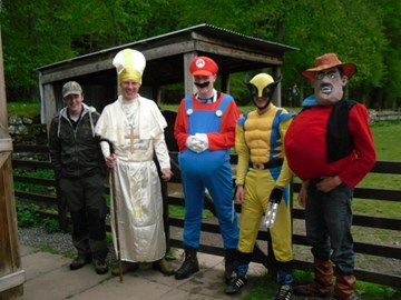 Fancy dress pony trek