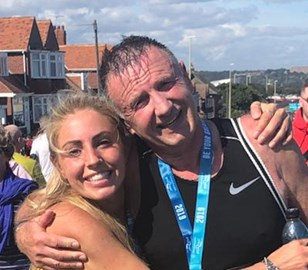 Joscelyn and Laurence after the Great North Run