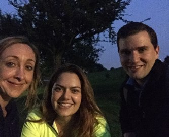 We also did training at night! The team walked 29km in the dark across Hampstead Heath and Primrose Hill