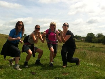 Team Dave! Louise, Suz, Gill and Laura