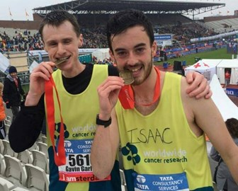 Me and Isaac (The Choose A Challenge Champion) after the race :)