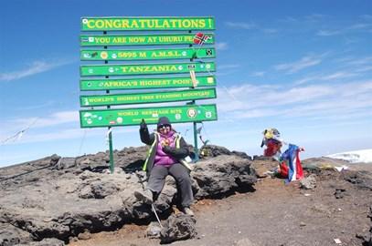 At the top of Kilimanjaro on 09.02.2012