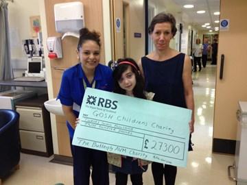 Nikki hands GOSH our 2nd Cheque