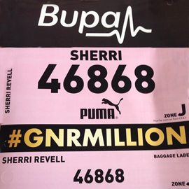 Sherri's Race Number