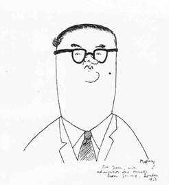 John Amis by Hoffnung 1958