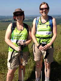 Trish and Lucy on The South Downs