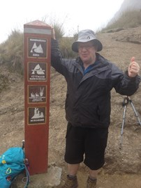 At Deadwomans pass on the Inca Trail May 2014