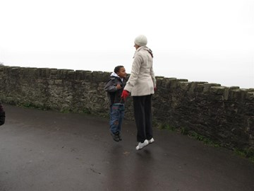 Joshua joined me on Clevedon seafront