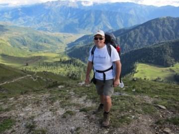 Richard trekking in Nepal last year