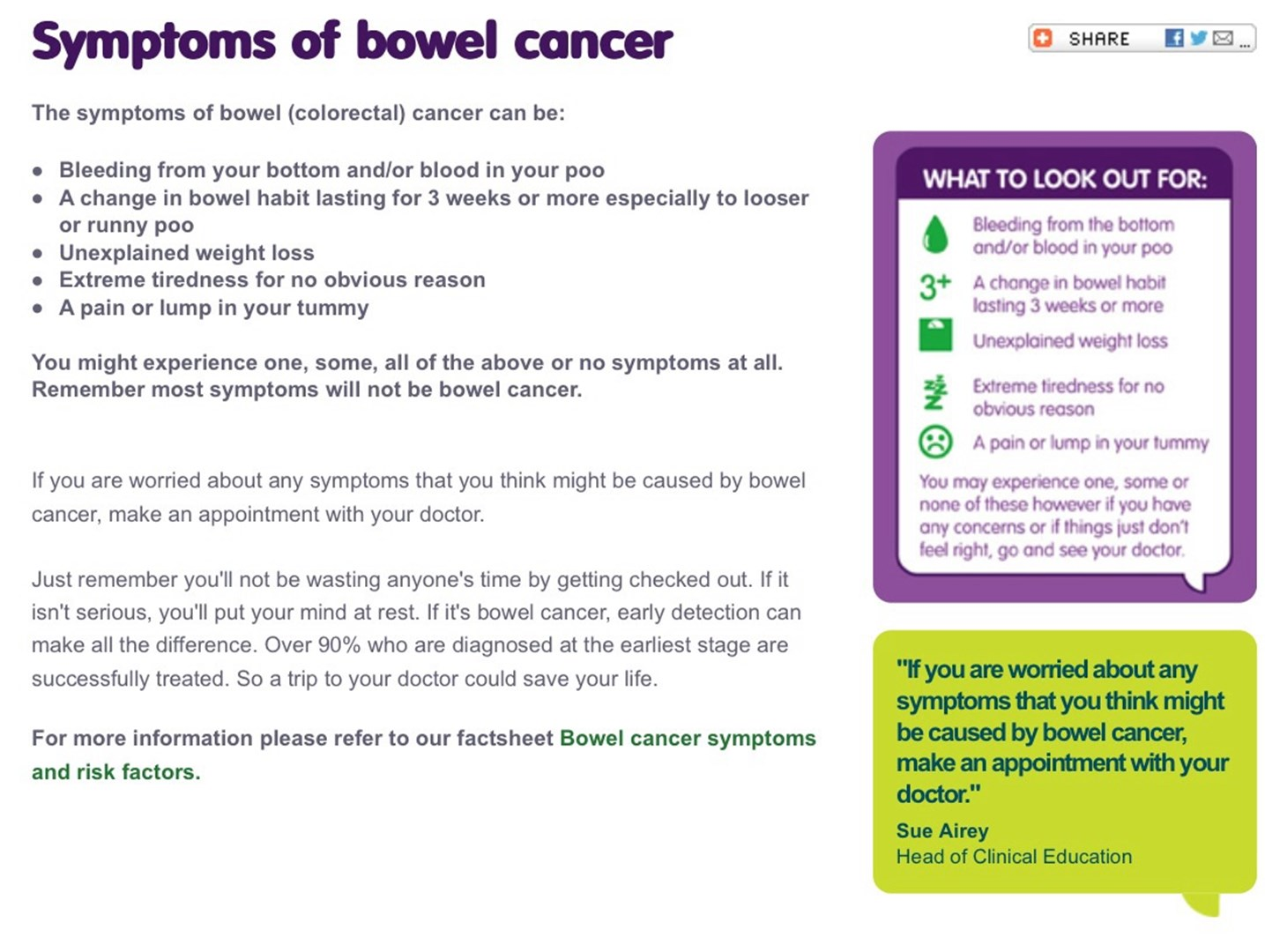 Suzanne Williams is fundraising for Bowel Cancer UK