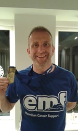 Chris raised £840 running the Edinburgh Marathon