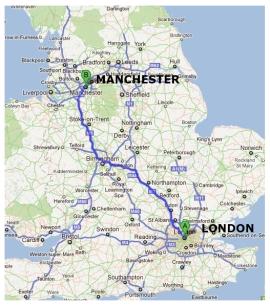 London Manchester Map London Map - London map manchester