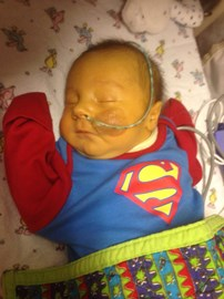 Our little super baby