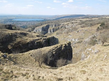 View from the top of Cheddar Gorge.