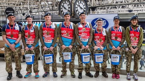 24/04/2017 (the Morning after the Marathon) Waterloo Bucket Collection Team