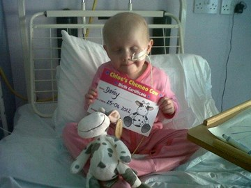 with her chemo cow :)