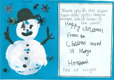 A thank you from the children of St Marys