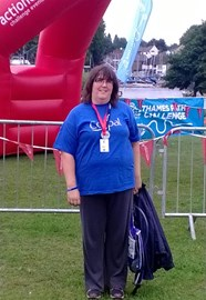 Elaine completed the Thames Path Challenge in 2013