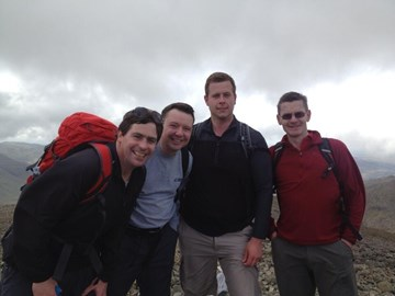 After a long slog up Scafell Pike