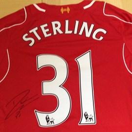 Serious Raffle prizes Raheem Sterling Signed Liverpool Shirt