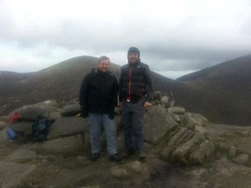 Training at the Mourne Mountain's