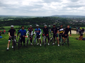 Some of the team on a training ride