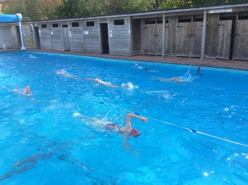 Acclimatisation training in an unheated Wiveliscombe pool