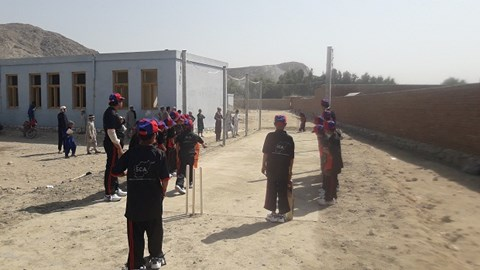 3. Cricket pitch. Biniga School, Nangarhar