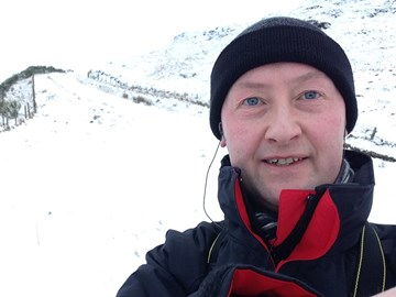 Getting 5 miles in before breakfast...in the snow (17th January 2016)