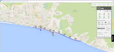 The Conga route for the record attempt