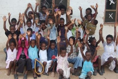 some of children helped by the charity