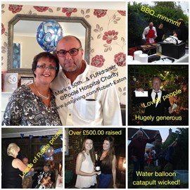 Mark ...Debbie's brother kick starts joint venture project with a 50th Birthday fundraiser......the £508 .00 raised to buy Sign it! Merchandise for Poole Hospital Charity Shop to raise even more money!!! ....Our goal 100k