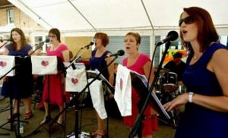 The Accidentals in action at Melford Street Fair