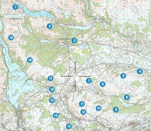 Map of Trig Points