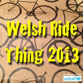 "Jeff's cycling in ""The Welsh Ride Thing"""