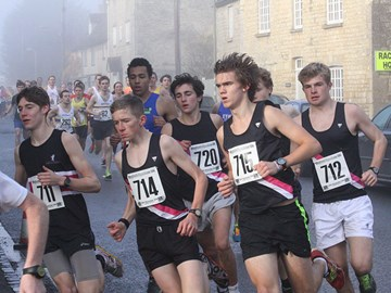the Cross Country team at the Enysham 10k.