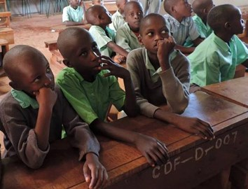 Students at Kiteghe Primary School