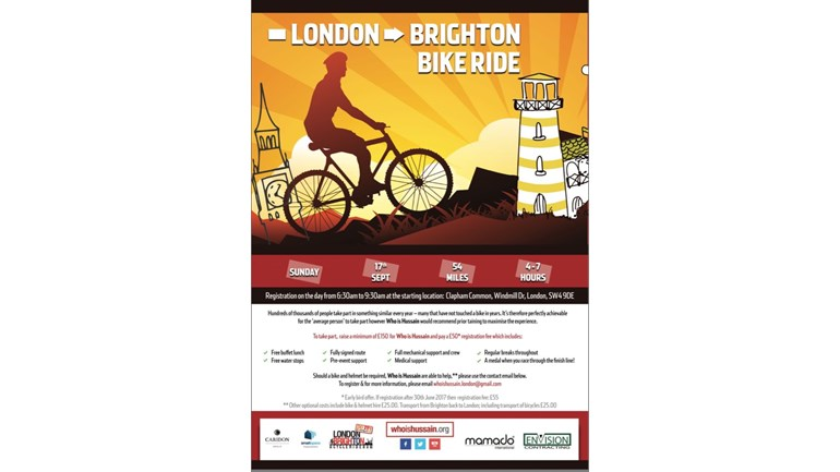 London To Brighton Cycle 2017 >> Syed Zain Akhtar Is Fundraising For The World Federation Of