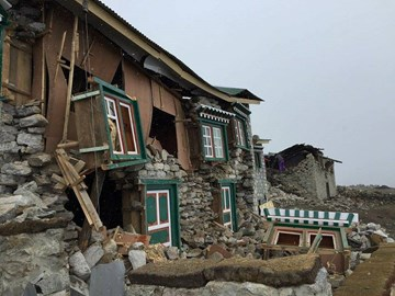 Thanks to Ian for the photo - some of the recent devastation in Nepal