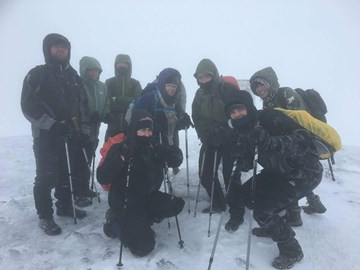 Staff braving all conditions to train for the big climb!
