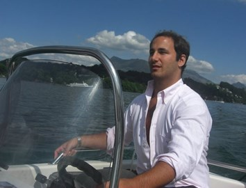 Adam on Lake Lucerne