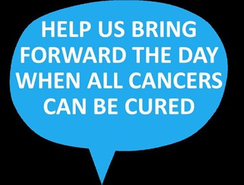 Help us bring forward the day when all cancers can be cured