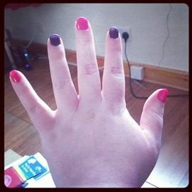 My S.A. nails (will abseil with these!)